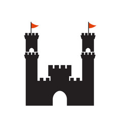 Castle graphic design template isolated vector