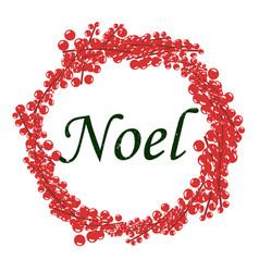 christmas theme symbols template vector image