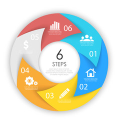 circle arrows for infographic business concept vector image
