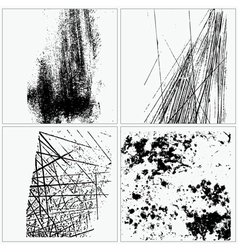 collection grunge textures vector image