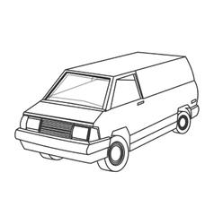 Commercial van icon vector