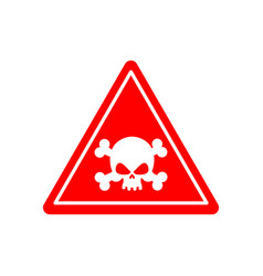danger poison sign red attention toxic hazard vector image