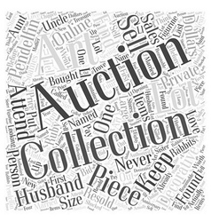 Decorative collectibles art auctions Word Cloud vector