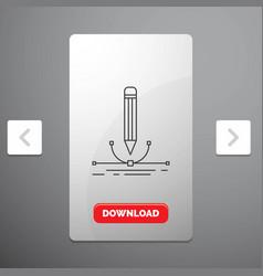 Design pen graphic draw line icon in carousal vector