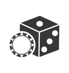 Dice casino vegas vector