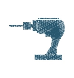 Drill tool isolated icon vector