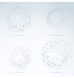Drop design elements - transparent particles vector image