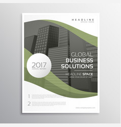 Elegant business brochure flyer poster template vector