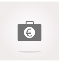 euro case button financial icon isolated vector image
