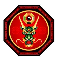 Feng shui dragon vector