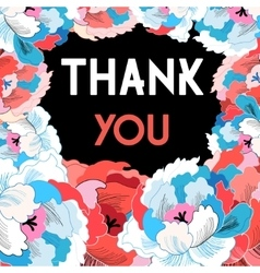 Flower card with gratitude vector image