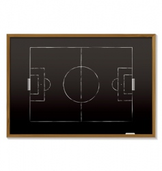 football blackboard vector image