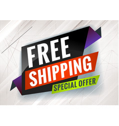 Free shipping discount promotional concept vector