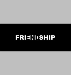 Friendship end - a play on words vector