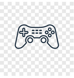 game controller cross concept linear icon vector image