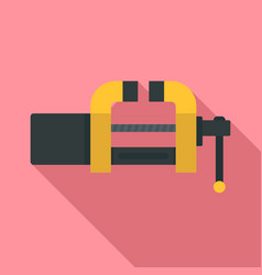 Garage vice icon flat style vector