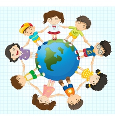 Global diversity vector image