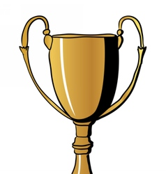 Gold Winners Cup vector image