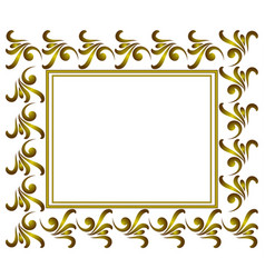 golden decorative frame vector image