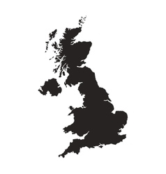 Great britain map silhouette icon vector