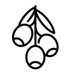 greek black olives icon outline style vector image