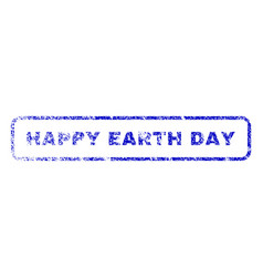 Happy earth day rubber stamp vector
