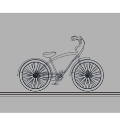 Hipsters bicycle sketch vector image vector image