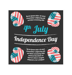 Independence day usa banner vector