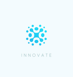 Innovate technology blue iccon abstract vector
