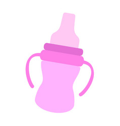 isolated baby bottle icon vector image