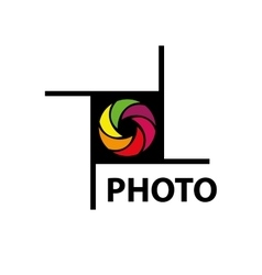 logo camera vector image