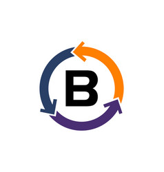 management process letter b vector image