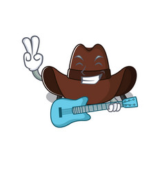 Mascot featuring cowboy hat with vector