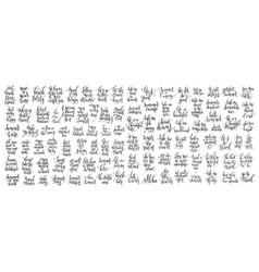 mega set of 100 motivation and inspirational vector image