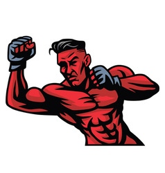 MMA Fighter Mascot vector