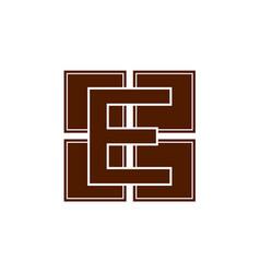 Monochrome e letter logo digital e logo e letter vector