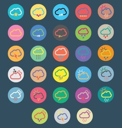 Multicolor cloud icons vector