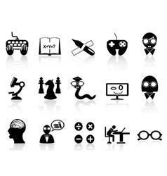 nerds icon set vector image