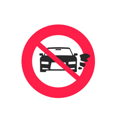 No car or vehicle engine running sign flat vector