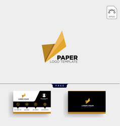 paper abstract logo template and business card vector image