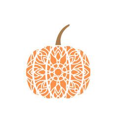 pumpkin mandala design template isolated vector image