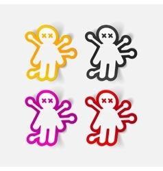 Realistic design element voodoo Doll vector