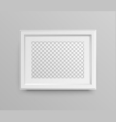 Realistic horizontal frame vector