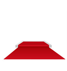 red carpet on a circular podiumthe podium of vector image