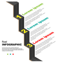 Road infographic background vector