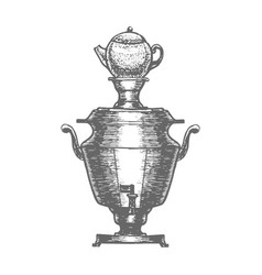 samovar in hand drawn style vector image