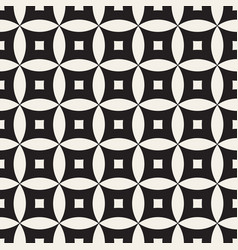 Seamless geometric rounded lines pattern vector