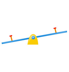 seesaw on white background vector image