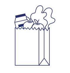 Shopping products inside bag design vector