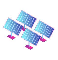 solar panel plant icon isometric style vector image